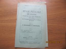REVUE MEDICALE DE LOUVAIN N° 23 - 1933 Le Prominal Pour L'épilepsie M. IDE - Livres, BD, Revues