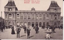 BRUXELLES -- Gare Du NORD + Belle Animation - Chemins De Fer, Gares