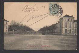 DF / 26 DRÔME / ROMANS SUR ISERE / LA PLACE D'ARMES / CIRCULÉE EN 1906 - Romans Sur Isere