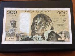 500 Francs 22-1-1987 - 1962-1997 ''Francs''