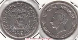 ECUADOR 1 SUCRE 1964 KM#78b - Used - Equateur