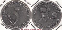ECUADOR 5 Centavos 2000 KM#105 - Used - Ecuador