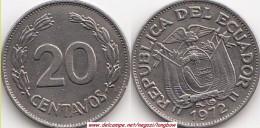 ECUADOR 20 Centavos 1972 KM#77.1c - Used - Ecuador