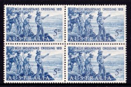 Australia 1963 Blue Mountains Crossing Centenary Block Of 4 MNH - 1952-65 Elizabeth II : Pre-Decimals