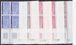 Andorre 316 324 Bloc De 4 Coin Daté 1983  écu Primitif NEUF ** TB MNH Sin Charnela - Andorra Francesa