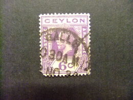 CEYLAN CEYLON 1921 LE ROI GEORGE V Yvert Nº 208 º FU - Ceylon (...-1947)