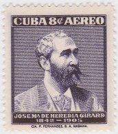 1957-241 CUBA REPUBLICA 1957. JOSE MARIA HEREDIA. INDEPENDENCE WAR. MH. - Ongebruikt