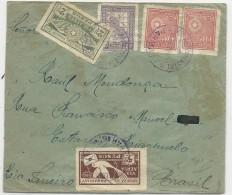 PARAGUAY - 1929 - POSTE AERIENNE - ENVELOPPE AIRMAIL RECOMMANDEE (VOIR DOS) De ASUNCION Pour RIO DE JANEIRO (BRESIL) - Paraguay