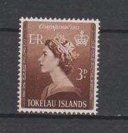 Tokelau Mi 4 Coronation Queen Elizabeth II 1953 * * - Tokelau