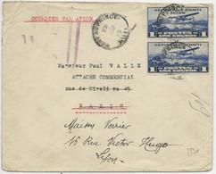HAÏTI - 1930 - POSTE AERIENNE - ENVELOPPE AIRMAIL De LA LEGATION De FRANCE à PORT AU PRINCE Pour PARIS REEXPEDIEE à LYON - Haïti