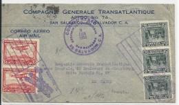 SALVADOR - 1933 - POSTE AERIENNE - ENVELOPPE AIRMAIL De SAN SALVADOR Pour LE HAVRE Via GENEVE - Salvador
