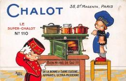 """- Carte Publicitaire  -  Les Appareil Ultra-Moderne """" CHALOT """" 38 Bd Magenta à PARIS  - Illustrateur """" Béatrice MALLET """" - Publicidad"""