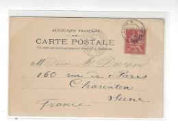 CACHET PAQUEBOT Ligne N  PAQ. FR. N° 1 ( 28 .SEPT. 01 ) , Sur Cp  Paquebot Annam Messageries Maritimes - Maritieme Post