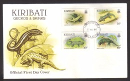 7786- Kiribati , Michel 480-83 FDC – Reptiles, Animals, Fauna - Kiribati (1979-...)