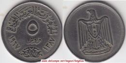 Egitto 5 Piastres 1967 Km#412 - Used - Egitto