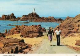 Postcard - La Corbiere Lighthouse, Jersey. J.82 - Lighthouses