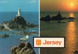 Postcard - La Corbiere Lighthouse, Jersey. J215 - Lighthouses