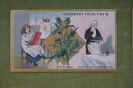 Félix POTIN - Chromo Sujet Botanique - Nature - L'artichaut - Modèle De Dessin, Mets Recherché - Imp Champenois - Cioccolato