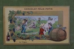 Félix POTIN - Chromo Sujet Botanique - Nature - La Vigne - Imp Champenois - Cioccolato