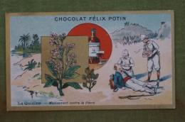 Félix POTIN - Chromo Sujet Botanique - Nature - La Quinine - Médicament Contre La Fièvre - Imp Champenois - Cioccolato