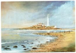 Postcard - St. Mary´s Lighthouse By Edwin Blackburn, Northumberland. EBC - Lighthouses