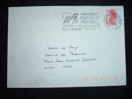 LETTRE TP LIBERTE DE GANDON 2,00 OBL.MEC.22-3-1984 NANTES PREFECTURE(44)CHAMPIONNAT D'EUROPE DE FOOTBALL NANTES 16 Et 20 - Championnat D'Europe (UEFA)