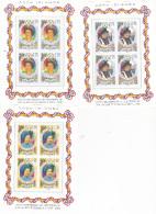 Cook Islands SG 1392-94 1996 70th Birthday Anniversary Of Queen Elizabeth II,sheetlets, MNH - Cook Islands