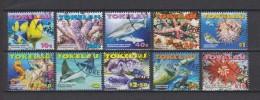 Tokelau Mi 372-379 - Marine Life - Centropyge Bicolor - Acropora Robusta - Carcharhinus Melanopterus - Linckia Multiflor - Tokelau