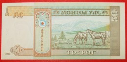 § HORSES: MONGOLIA ★ 50 TUGRIK 2000 UNC!!! CRISP! LOW START★ NO RESERVE! - Mongolia
