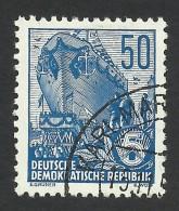 DDR, 50 Pf. 1955, Sc # 230, Mi # 457, Used - [6] Democratic Republic