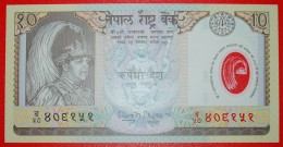 § PLASTIC: NEPAL★10 RUPEES (2002) UNC CRISP! LOW START★ NO RESERVE! Gyanendra Bir Bikram (2001-2008) - Nepal