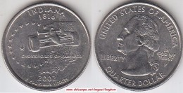 USA 25 Cents 2002 Indiana KM#334 - Used - Émissions Fédérales
