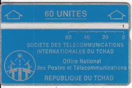 CHAD(L&G) - Telecom Logo Green 60 Units, CN : 004C, Tirage 8000, Used - Chad