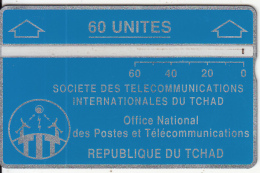 CHAD(L&G) - Telecom Logo Blue 60 Units, CN : 004C, Tirage 8000, Used - Chad