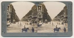 Keystone STEREOVIEW # 464 (15656), One Of Europ's Famous Avenues.  Andrassy Strasse, Budapest, Hungary. - Stereoscopio