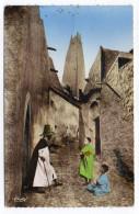 Algérie--Paysage Du M'ZAB-1959--La Rue De La Moquée (animée) ,cpsm 14 X 9 N°346 éd Combier--écrite De Hassi-Messaoud - Autres Villes