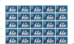 St Pierre Et Miquelon MNH Scott #316 Full Sheet Of 50 80c Surcharge On 5c Schooner - Has Been Folded - Blocs-feuillets