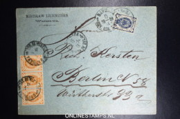 Russia  Cover 1884 Warszawa Warschau Poland To Berlin Mixed Stamps. - 1857-1916 Imperium