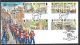 ALDERNEY - FDC Mi-Nr. 121 - 128 Historische Entwicklung Von Alderney - Alderney