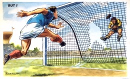 "#  CP Humoristique Paul Ordner Sur Le Foot Ball ""But"" - Ordner, P."
