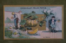 Félix POTIN - Chromo Sujet Botanique - Nature - Le Melon - Imp Champenois - Cioccolato