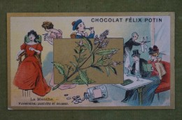 Félix POTIN - Chromo Sujet Botanique - Nature - La Menthe - Vulnéraire, Pastilles Et Boisson - Imp Champenois - Cioccolato