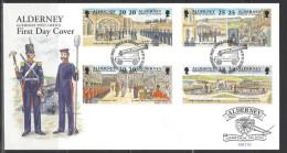 ALDERNEY - FDC Mi-Nr. 137 - 144 Historische Entwicklung Von Alderney - Alderney
