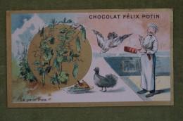 Félix POTIN - Chromo Sujet Botanique - Nature - Le Petit Pois - Imp Champenois - Cioccolato