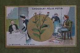Félix POTIN - Chromo Sujet Botanique - Nature - La Moutarde - Sert De Révulsif - Imp Champenois - Cioccolato