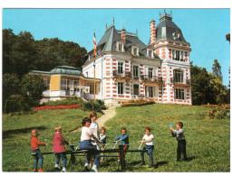 CPSM SAINT HONORE LES BAINS 58 MAISON D ENFANTS POUR CURE THERMALE JEUX D ENFANTS TOURNIQUET - Saint-Honoré-les-Bains