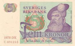 SWEDEN 5 KORONOR 1978 P-51d AU/UNC [ SE51d ] - Sweden