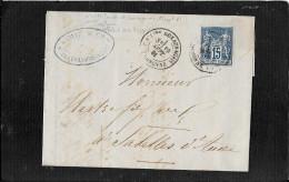 CAS  VILLEFRANCHE DE LAURAGAIS  45 - Marcophilie (Lettres)