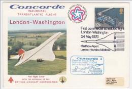 Royaume Uni => Premier Vol CONCORDE - Londres => Washington - 24 Mai 1976 - Concorde
