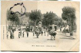 - 5 - Maison-Carré - ( Algérie ), Hôtel De Ville, Mulets, Tramway, Animation, Précurseur, Non écrite, TBE,  Scans. - Algerije